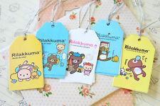 Cute Cartoon Rilakkuma Bear Gift Tag 2pc kawaii novelty message fancy gift tags