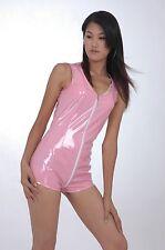 LACKINA--  Lack-Kurz-Overall,schwarz  & pink , 7 Größen