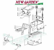 vue en éclaté cadre tracteur SD98 XD150HD C pièces de rechange CASTELGARDEN