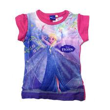 FROZEN t-shirt fuchsia imprimé sur avant coton différentes tailles de fille