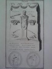 GRAVURE ANCIENNE D'EPOQUE PRIAPE BOISSARD FORMAT 25.5 x 40.5 cm