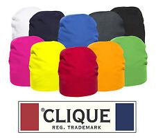 CLIQUE Cappello SACO cuffia BERRETTO cotone jersey elasticizzato 10 COL unisex #