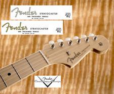 #002 Decal Decal Fender Stratocaster Guitar Guitar Gold/Grey Serial No