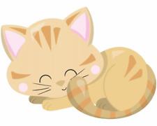 Schlafende Katze Aufkleber Sticker Autoaufkleber Scheibenaufkleber