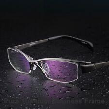 Men's Semi-Rimless Eyeglasses Business Titanium Frame Eyewear Accessories