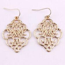 New Gold Filigree Morocco Dangle Drop Earrings for Women 2018  Fashion Jewelry