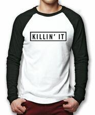 Killin' it fashion baseball tee top-Hipster à manches longues base ball t shirt