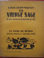 LA VIERGE SAGE:LOUIS LEON-MARTIN LE LIVRE DE DEMAIN 73