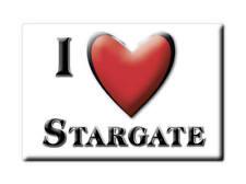 SOUVENIR UK - ENGLAND FRIDGE MAGNET UNITED KINGDOM I LOVE STARGATE (DURHAM)
