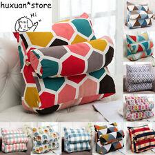 Triangular Backrest Cushion Cotton Linen Sofa Bed Rest Back Pillow Waist Cushion