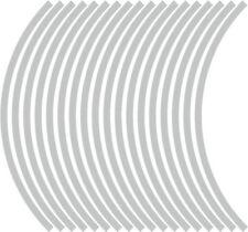 9mm cerchione nastro striatura strisce adesivi ARGENTO 38 pezzi/9 per ruota)