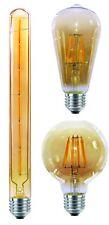 LED Filament Leuchtmittel Retro Design gold, Lampe Birne 4W E27 2200K warmweiß
