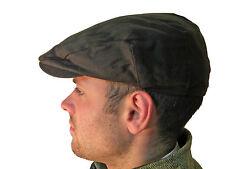 Campbell Cooper New Wax Flat Cap Oilskin Countrywear Brown XS S M L XL