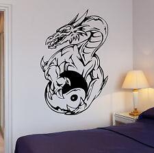 Wall Sticker Fantasy Dragon Yin Yang Kids Room Art Mural Vinyl Decal (ig1938)
