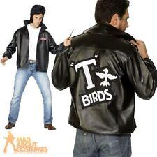 Mens Grease T-Bird Jacket Danny T Bird  Mens Fancy Dress Costume Size 38 - 50