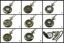 Kettenuhr Taschenuhr mit Kette Quarz Uhr Uhrenkette Organzabeutel Uhrkette, neu