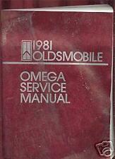 1981 Olds Omega Dealership Service Manual