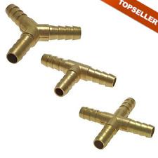 Schlauchverbinder aus Messing, PN 16, Druckluft, Luft, Y-Stück, T-Stück, Kreuz