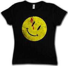 BLOODY BUTTON DAMEN T-SHIRT Watchmen Heroes Comedian Comic Smiley The Wächter
