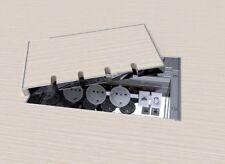 Einbausteckdose, Fußbodendose,Bodensteckdose Edelstahl V2A