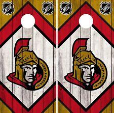 Ottawa Senators Cornhole Wrap Nhl Game Board Skin Set Vinyl Decal Art Co310