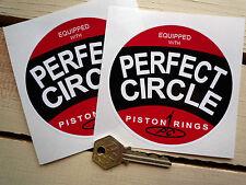 "Perfect Circle RACE CAR ADESIVI 4 ""PAIR Decalcomanie RACING HOT ROD Anelli Pistone Bici"