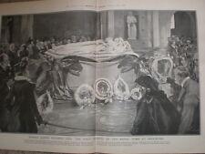Primer atisbo de la reina Victoria tumba en Frogmore J Finnemore 1902 antiguos impresión