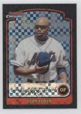 2003 Bowman Chrome X-Fractor #42 Cliff Floyd New York Mets Baseball Card