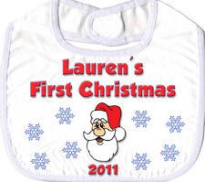 Bambino/Bambini Primo Natale Bavaglino personalizzato-Regalo di Natale grande