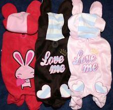 Dog Clothes Apparel Costume Pajamas Jumpsuit Hoodie BUNNY Fleece Coat Pants XS-L