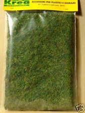 Manto d'erba verde in fili mm3 plastico o diorama cm.30x15 - Krea Modellismo 421