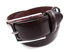 Da Uomo Alta Qualità Premium Bonded Cintura in pelle con argento