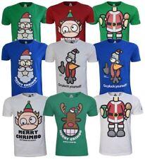 MENS CHRISTMAS T SHIRTS NOVELTY TEES GRAPHIC SANTA ELF REINDEER XMAS TOP  S-3XL