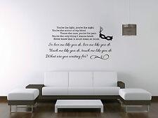 LOVE me like you do Ellie Goulding Cinquanta sfumature di grigio Canzone Adesivo Wall Art