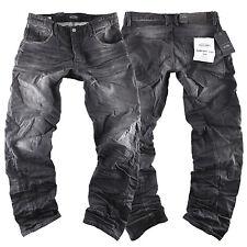 Jack & Jones Mike IRON Comfort Fit Jeans Uomo Pantaloni Nero Black Nuovo New 314