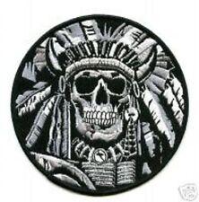 TALIZOMBIE© WHACKER NATO ALLIED COALITION OPERATOR Iron-on Skull Indian Chief