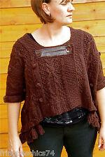 chaleco lana marrón invierno MC PLANET T 38 etiqueta GAMA SUPERIOR valorada en