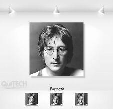 John Lennon - 12 - Quadro stampa su Tela Pelle Canvas Dipinto Arte Moderna