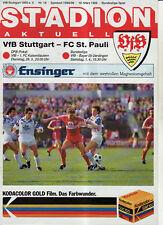 BL 88/89 VfB Stuttgart - FC St. Pauli