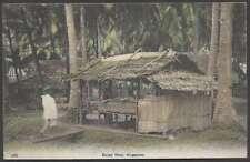 Singapore Postcard Malay Shop & Natives Costumes L@@K