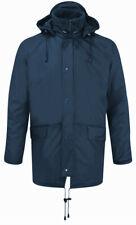 Fortess 219 Mens Rain Jacket Waterproof Fleece Lined Front Zip Hooded Workwear