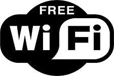 FREE Wi-Fi Adesivo WIFI WIRELESS hotspot internet Adesivo NEGOZIO BAR Bar Decalcomania