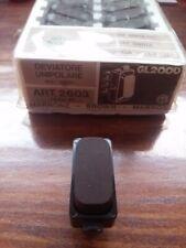 Deviatore bianco o marrone Legrand Molveno GL2000 art. 2603. Nuovo