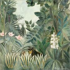 Alu Dibond / Alu-Bild Äquatorialer Dschungel - Henri Rousseau