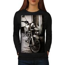 Old Retro Motorbike Women Long Sleeve T-shirt NEW | Wellcoda