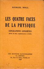 "Livre Ancien Science "" Les quatres faces de la physique "" Marcel Boll "" ( 1609 )"
