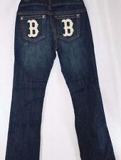 NEW Womens TOUCH by Alyssa Milano Boston RED SOX Denim Blue Jeans MLB Baseball
