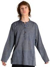 Fischerhemd dunkelblau weiß gestreift aus Baumwolle S bis XXXL Freizeithemd