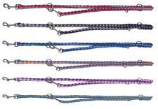 Führleine rund geflochten 2 farbig - 2 m - 6 Farben - 2 Größen Nylon Hundeleine
