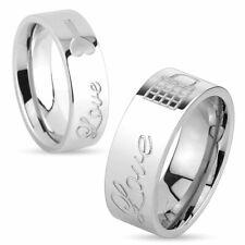 Anello da Donna E Da Uomo Anello Partner lock & key Love Anello di fidanzamento in acciaio inox